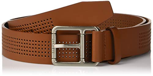 - Lacoste Men's Perforated Leather Belt W/Roller Buckle, Tan, 40