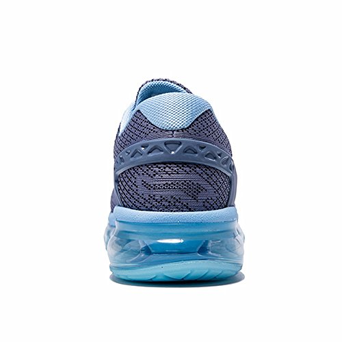ONEMIX Womens Air Running Shoes,Sloping Tongue Design Sneakers Grey/Blue
