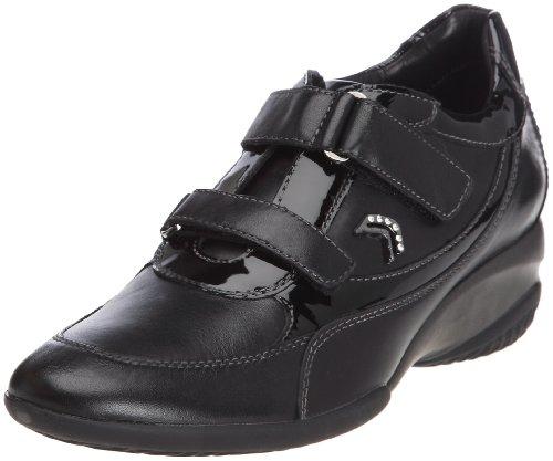 Geox DONNA ADA D2482E04366C9999 - Zapatillas fashion de cuero para mujer Negro