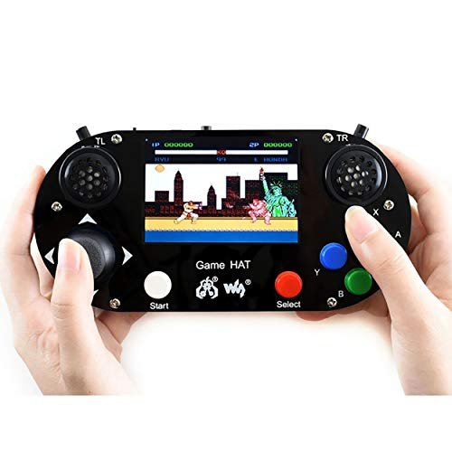 Waveshare Game HAT with 480x320 3.5inch IPS Screen 60 Frame Make Your Own Classic Game Console Support Raspberry Pi A+/B+/2B/3B/3B+/Zero W Onboard Speaker and Earphone Jack