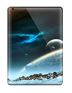 Tpu Fashionable Design Space Art Rugged Case Cover For Ipad Air New