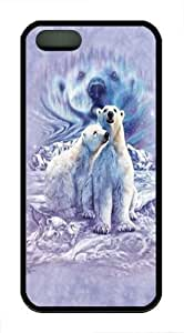 Find 10 Polar Bear Pair TPU Case Cover for iPhone 5 and iPhone 5s Black