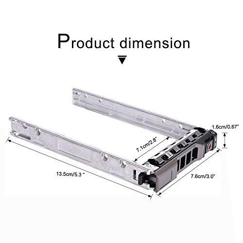 "{2pcs Pack}2.5"" Hard Drive Caddy Tray for Dell PowerEdge Server - T440 T640 R330 R430 T430 R630 T630 R730 R730XD R830 R930 for G176J and 0G176J (2pcs)"