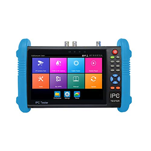 Ctronics IPC-9800ADHS Plus CCTV IP &Analog Camera Tester Test 7-inch IPS Touch Screen Monitor CVBS Tester with HD-TVI/HD-CVI/AHD/SDI/POE/WIFI/8G TF Card/4K H.265/HDMI In&Out/RJ45 TDR/Firmware Upgraded