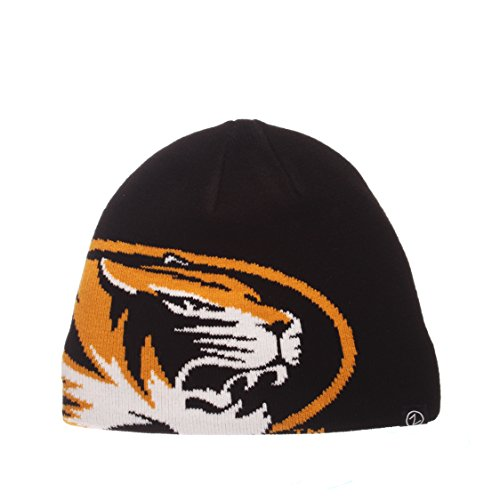 (ZHATS NCAA Missouri Tigers Youth Peek Knit Beanie, Adjustable, Team Color)