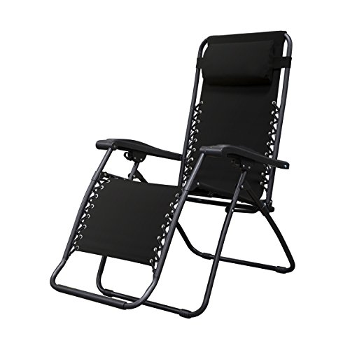 Caravan Sports Infinity Zero Gravity Chair, Black - Sling Adjustable Lounge Chair