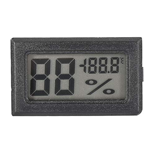 (LCD Display Temperature Humidity Meter Thermometer Indoor Thermometer Humidity Monitor for Home, Office, Greenhouse(Black))