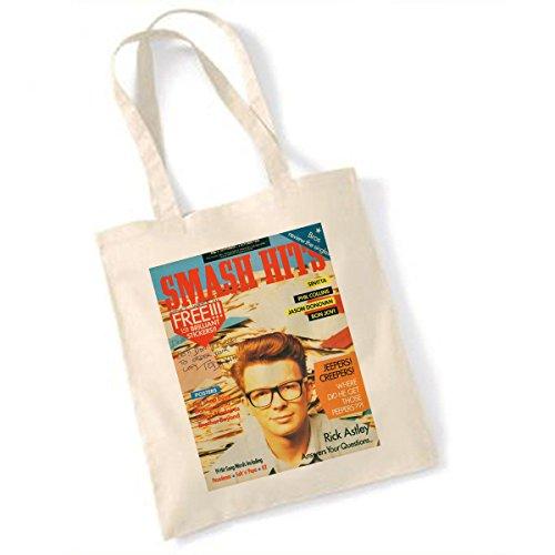 Rick Astley Smash Hits Sept 21- Oct 4 1988 Natural Tote Bag