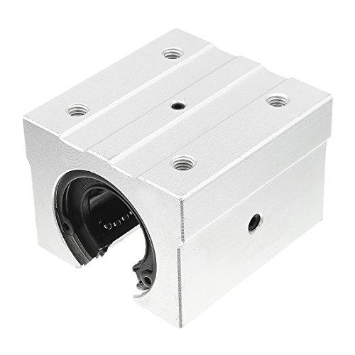 Aluminum Linear Bearing - uxcell SBR30UU Aluminum Open Linear Router Motion Bearing 70mmx70mmx56mm Solide Block