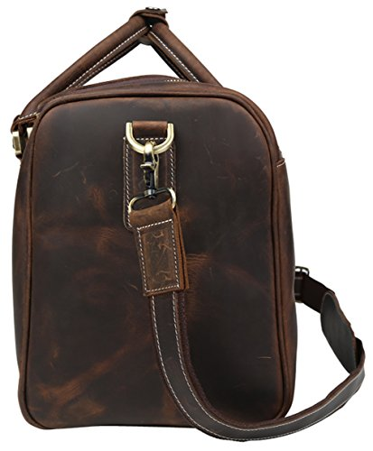 Polare Real Leather Vintage Travel Luggage Duffle Bag /Gym Bag/ Overnight bag by Polare (Image #2)