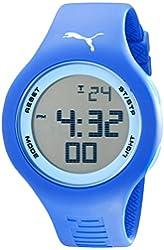 PUMA Unisex PU910801036 Drop Digital Display Analog Quartz Blue Watch