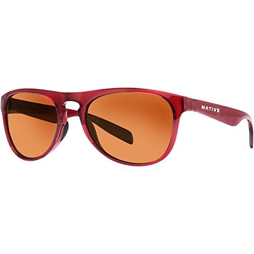Native Eyewear Sanitas Polarized Sunglasses, Crimson Frame, Brown (Frame Crimson Red Lens)