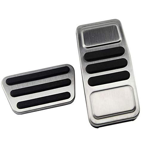 No Drill Gas Brake Pedal Stainless Steel Anti-slip AT Accelerator Brake Pedal Cover Fits X1 F48 2-series Touring 218i 220i 220d 225xe/£/¨LHD 3pc/£/©