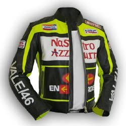 livin4limit 4LIMIT Valentino Rossi Chaqueta de Piel para Motorista