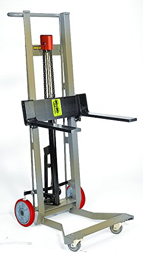 Wesco-Industrial-Products-SSDPL-54-F-Hydraulic-Fork-Lift-Stainless-Steel-750-pounds-Capacity