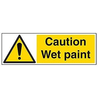 VSafety - Cartel de pintura húmeda con texto en inglés ...