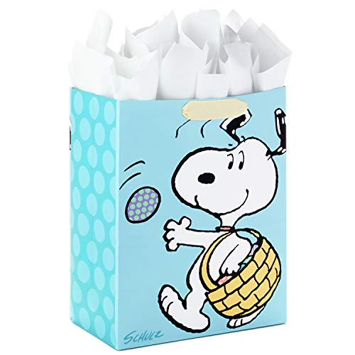 Hallmark Large Peanuts Easter Gift Bag with Tissue Paper (Snoopy Easter Basket)]()