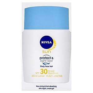 NIVEA SUN Light Feel Daily Face Veil Moisturising Sunscreen SPF30+, 50ml