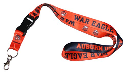 WinCraft NCAA Auburn University Tigers War Eagle Lanyard Keychain, 1 inch Wide, 20 inches Long