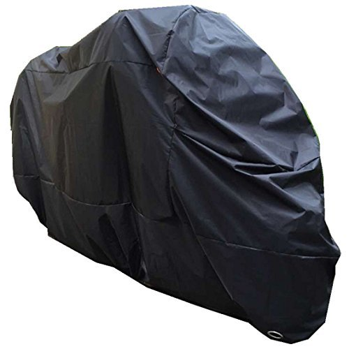 Motorbike Cover Motorcycle Cover Waterproof Scooter Cover Indoor Outdoor 210D XXL For Harley Black by GOandStOp