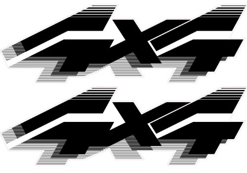 4x4 Off Road Decals (Black) - 1992 to 1996 Ford Style