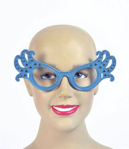 Gold Adults Dame Edna Glasses (Dame Edna Costumes)