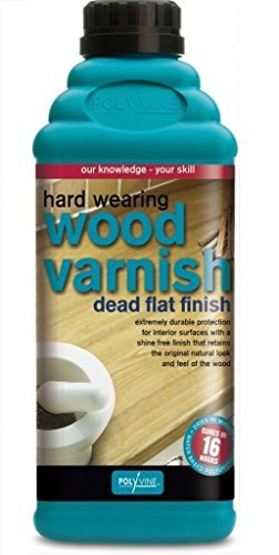 (Polyvine Interior Wood Varnish Dead Flat Hard Wearing (Pint))