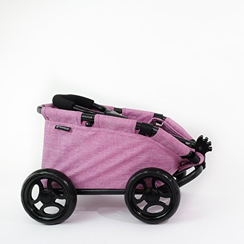 TRIOKID My First Kids Toy Wagon for Doll Trioswagon Deluxe Outdoor Doll Stroller