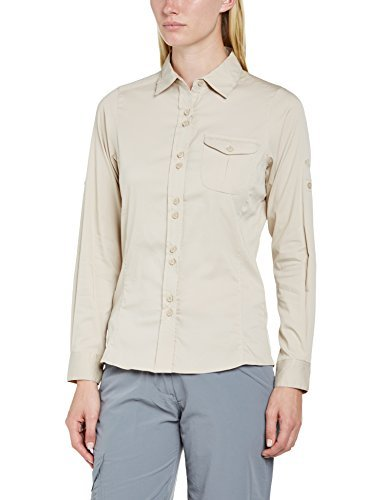 Craghoppers Women's Kiwi Long Sleeved Shirt - Almond, Size 18 by Craghoppers