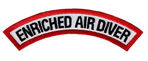 (Enriched Air Diver Chevron Patch Embroidered Iron On Scuba Diving Emblem Nitrox)
