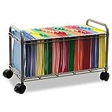 Smartworx File Cart, 1-Shelf, 28-1/4w x 13-3/4d x 27-3/8h, Matte Gray