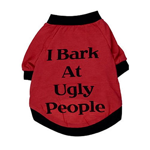 Nightmare Before Christmas Costumes For Dogs (AIMTOPPY Dog Cats Clothes Pets T Shirt Puppies Sweatshirt For Small Large Dogs (XS, Red))