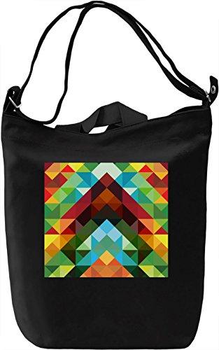 Colorful Triangles Pattern Borsa Giornaliera Canvas Canvas Day Bag| 100% Premium Cotton Canvas| DTG Printing|