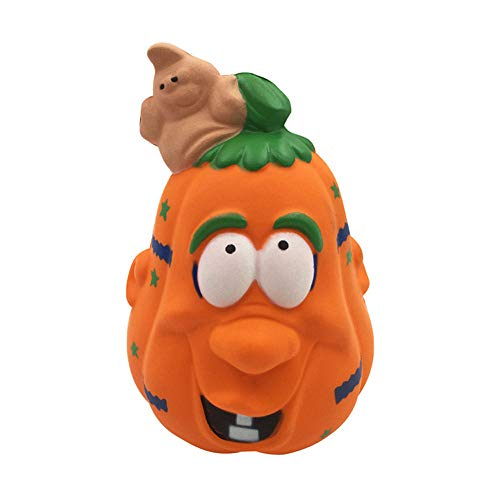HHei_K Decompression Slow Rebound Toy Halloween Pumpkin Stress Reliever Scented Super Slow Rising Squeeze Toys]()