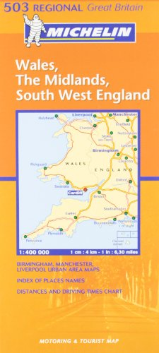 Wales, West Country, Midlands (Michelin Regional Maps)