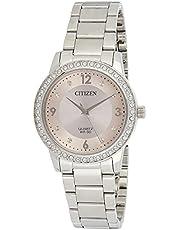 ساعة رسمية ستانلس ستيل من كاسيو للنساء، فضى - LTP-V002D-4BUDF