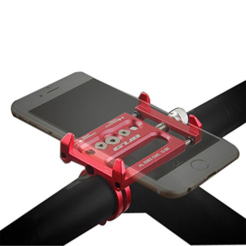 GUB G-86 3.5-6.2 Aluminum Mtb Bicycle Phone Holder Motorcycle Support GPS For Bike Handlebar Accessories (Red) (Mtb Claw)