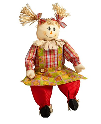 Sitting Scarecrow Girl 33 Inches