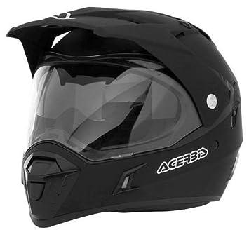 Acerbis - Casco para moto, motard, quad, atv XXL Negro opaco