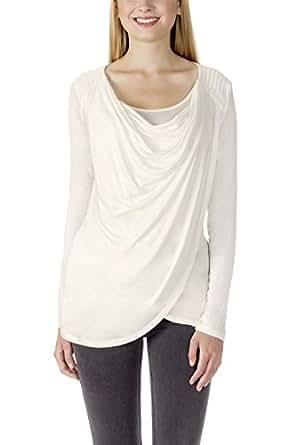 Bellybutton ADAY-Stillshirt 1/1 Arm, Camisa para Mujer, Blanco (Snow White 1050), 38