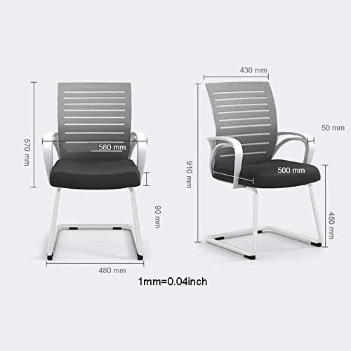 AJMINI kontorsstol med armar kontor nät rosett arbetsstol, ryggstöd, modern stil skrivbordsstol