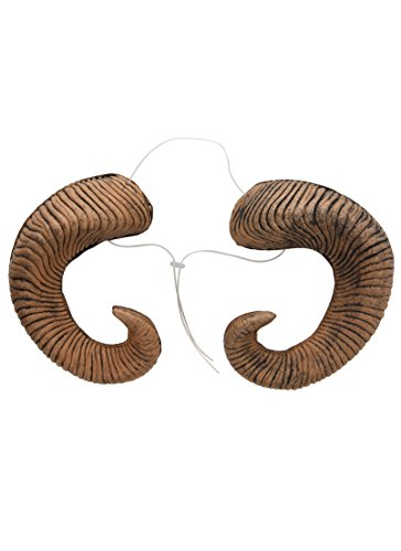 elope Ram Horns Costume Accessory, Adjustable Headband