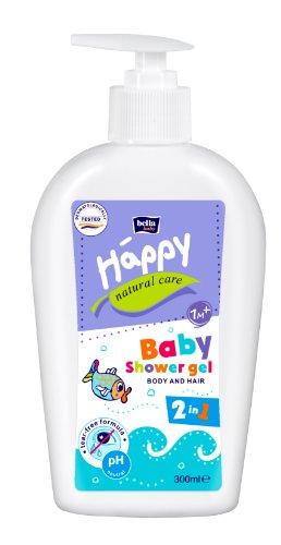 Bella Baby Happy Natural Care Waschgel für Körper & Haare, 4er Pack (4 x 300 ml)