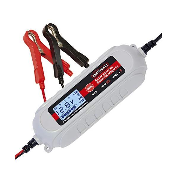 41K54 R1NqL Dino KRAFTPAKET 136311 4A-6V/12V Batterieladegerät mit Batterietester IP65 für KFZ Auto Motorrard Quad ATV Boot