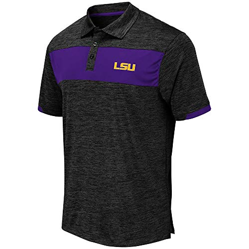 Mens LSU Louisiana State Tigers Nelson Polo Shirt - L