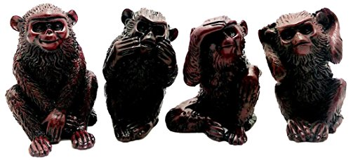 SET OF 4 MONKEYS DOING SEE NO EVIL , HEAR NO EVIL, DO NO ...
