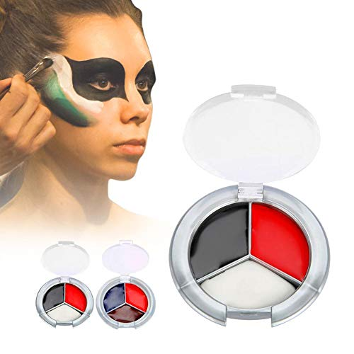 (Face Body Paint Oil, Body paint, oil paint, Halloween makeup, makeup paint to paint the face paint crayons Scars of Vampires Halloween witches(01#Red + Black +)