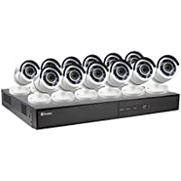 Swann 1080P Digital Video Recorder with 12 Pro-T855 Cameras Surveillance Camera, White/Black (SWDVK-164512-US)