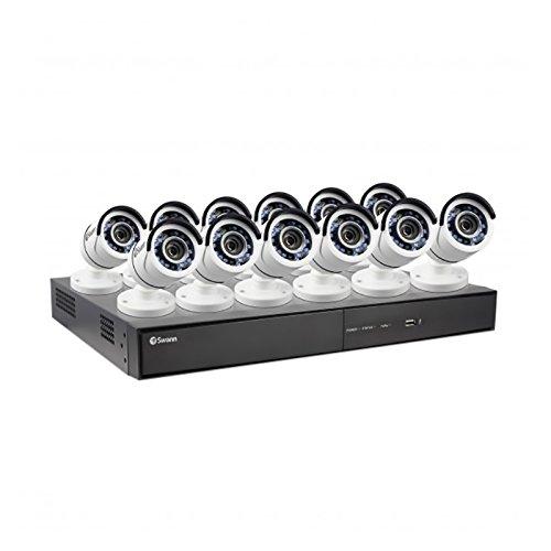 Swann 1080P Digital Video Recorder with 12 Pro-T855 Cameras Surveillance Camera, White/Black (SWDVK-164512-US)