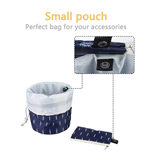 c8ee00d44fc1 Jelord Quick Makeup Bag Large Capacity Drawstring Cosmetic Bags Waterproof  Toiletry Magic Pouch for Women Girls Quick Pack Portable Zipper Travel ...